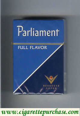 Discount Parliament Full Flavor blue and dark blue cigarettes hard box