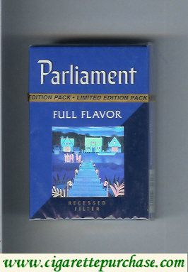 Discount Parliament Full Flavor hologram with stairs cigarettes hard box