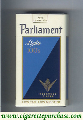 Discount Parliament Lights 100s Recessed Filter cigarettes soft box