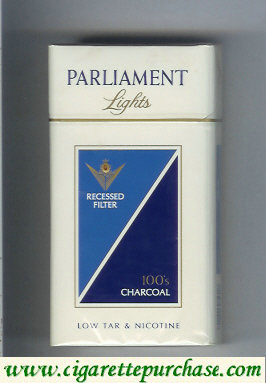 Discount Parliament Lights Charcoal 100s cigarettes hard box