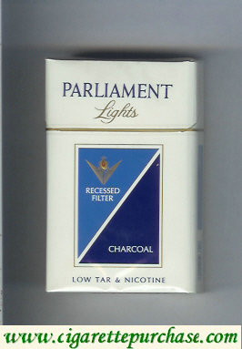 Discount Parliament Lights Charcoal cigarettes hard box