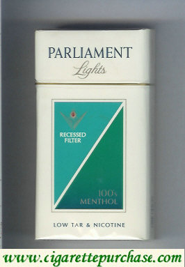 Discount Parliament Lights Menthol 100s cigarettes hard box