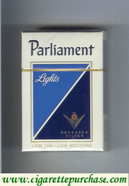 Discount Parliament Lights Recessed Filter cigarettes hard box