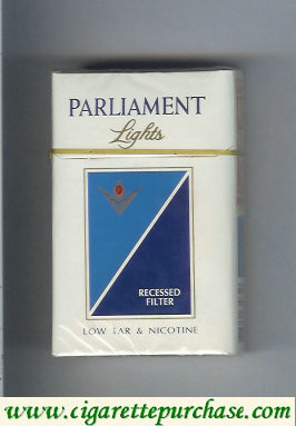 Discount Parliament Lights cigarettes hard box
