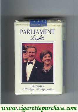 Discount Parliament Lights design with George Bush cigarettes soft box