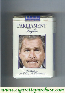 Parliament Lights design with George Bush cigarettes