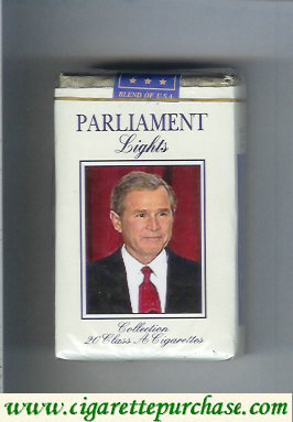 Discount Parliament Lights design with George Bush soft box cigarettes