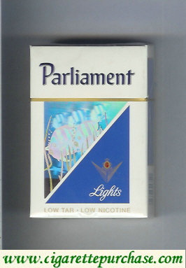Discount Parliament Lights hologram with a fish cigarettes hard box