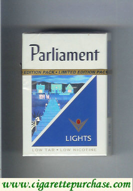 Discount Parliament Lights hologram with stairs cigarettes hard box