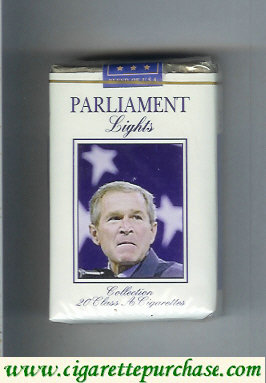 Discount Parliament Lights with George Bush cigarettes soft box