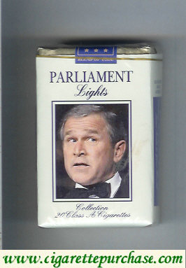 Discount Parliament Lights with George Bush soft box cigarettes