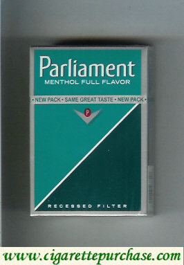 Discount Parliament Menthol Full Flavor cigarettes hard box