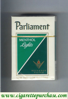 Discount Parliament Menthol Lights cigarettes hard box