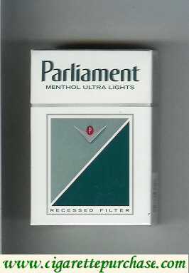 Discount Parliament Menthol Ultra Lights cigarettes hard box
