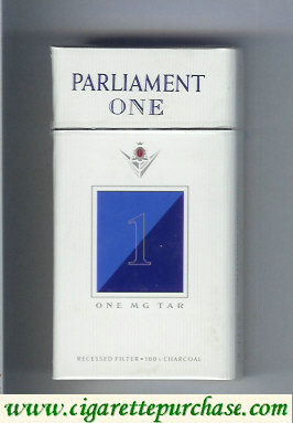 Discount Parliament One 1 One Mg Tar 100s cigarettes hard box