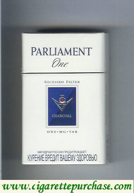 Discount Parliament One Recessed Filter Charcoal One Mg Tar cigarettes hard box