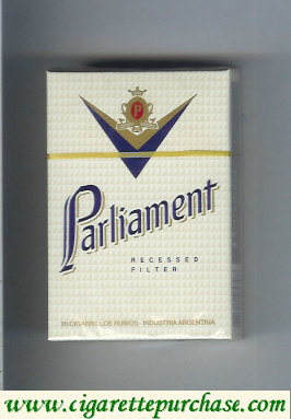 Discount Parliament Recessed Filter white cigarettes hard box