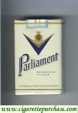 Discount Parliament Recessed Filter white cigarettes soft box