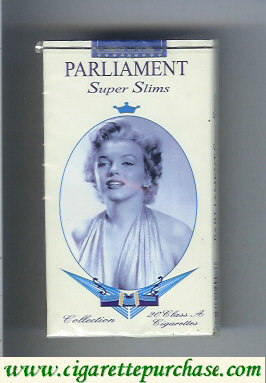 Discount Parliament Super Slims 100s design with Marlin Monro cigarettes soft box