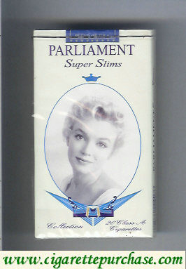 Discount Parliament Super Slims design with Marlin Monro 100s cigarettes soft box