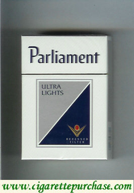 Discount Parliament Ultra Lights Recessed Filter cigarettes hard box