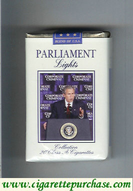Discount Parliament cigarettes Lights design with George Bush soft box