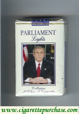 Discount Parliament cigarettes Lights with George Bush soft box