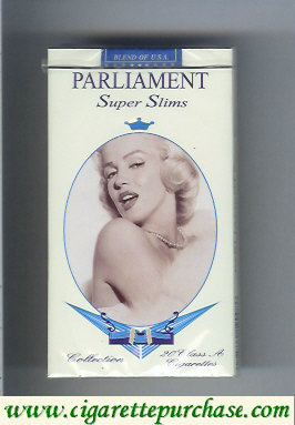 Discount Parliament cigarettes Super Slims design with Marlin Monro 100s soft box
