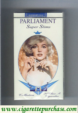 Discount Parliament cigarettes design with Marlin Monro Super Slims 100s cigarettes soft box