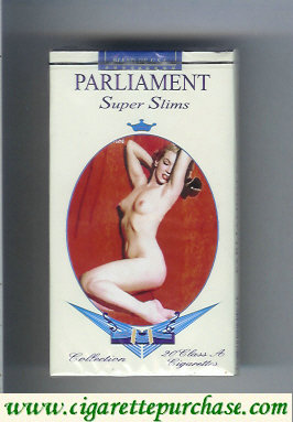 Discount Parliament cigarettes design with Marlin Monro Super Slims 100s
