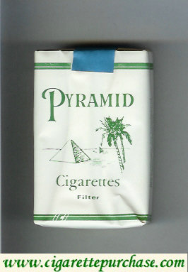 Discount Pyramid Cigarettes Filter white and green soft box