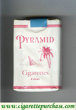 Discount Pyramid Cigarettes Filter white and red soft box