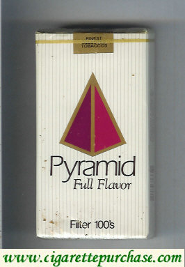Pyramid Full Flavor Filter 100s soft box cigarettes