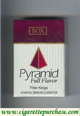 Discount Pyramid Full Flavor Filter Kings cigarettes hard box