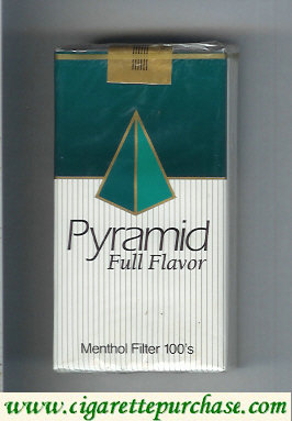 Discount Pyramid Full Flavor Menthol Filter 100s cigarettes soft box