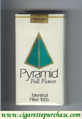 Discount Pyramid Full Flavor Menthol Filter 100s soft box cigarettes