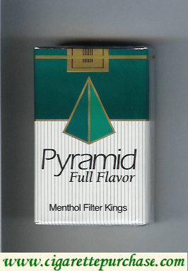 Discount Pyramid Full Flavor Menthol Filter Kings cigarettes soft box