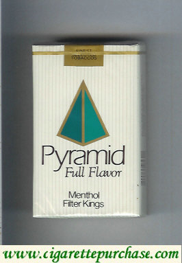 Pyramid Full Flavor Menthol Filter Kings soft box cigarettes