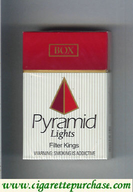 Pyramid Lights Filte Kings cigarettes hard box