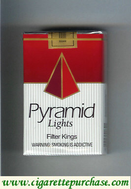 Pyramid Lights Filte Kings cigarettes soft box