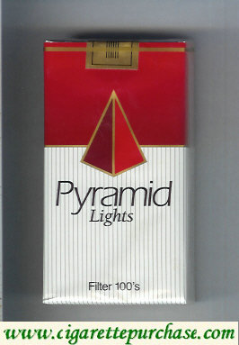 Pyramid Lights Filter 100s cigarettes soft box