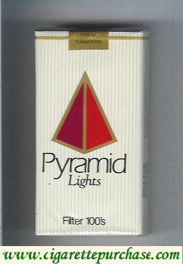 Discount Pyramid Lights Filter 100s soft box cigarettes