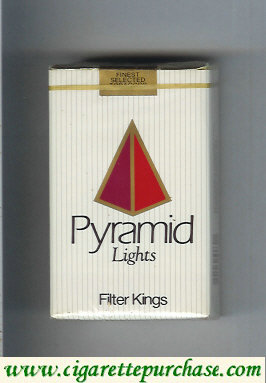 Discount Pyramid Lights Filter Kings cigarettes soft box