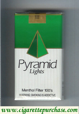 Discount Pyramid Lights Menthol Filter 100s cigarettes soft box