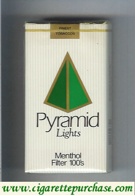 Discount Pyramid Lights Menthol Filter 100s soft box cigarettes