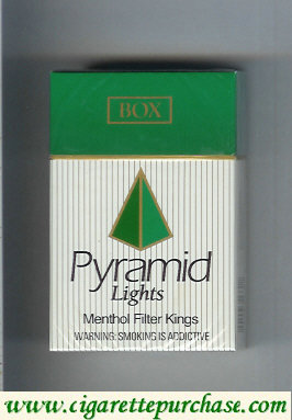 Discount Pyramid Lights Menthol Filter Kings cigarettes hard box