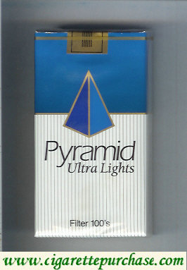 Pyramid Ultra Lights Filter 100s cigarettes soft box