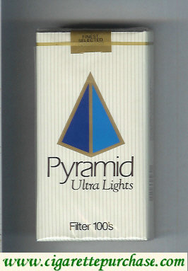 Discount Pyramid Ultra Lights Filter 100s soft box cigarettes