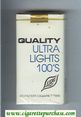 Discount Quality Ultra Lights 100s cigarettes soft box
