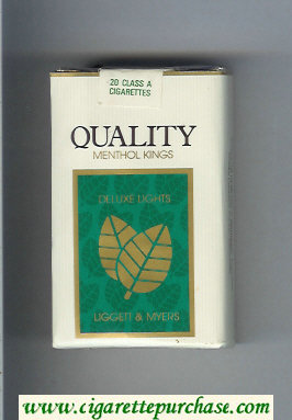 Discount Quality Liggett and Myers Deluxe Lights Menthol cigarettes soft box